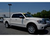 2014 White Platinum Ford F150 Platinum SuperCrew 4x4 #112863087