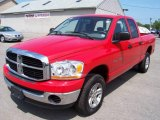 2006 Flame Red Dodge Ram 1500 SLT Quad Cab 4x4 #11254039