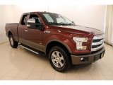 2015 Bronze Fire Metallic Ford F150 Lariat SuperCab 4x4 #112921235