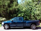 2007 Patriot Blue Pearl Dodge Ram 3500 SLT Quad Cab Dually #112948896