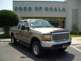 2000 Harvest Gold Metallic Ford F250 Super Duty Lariat Extended Cab 4x4 #11257061