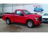 2016 Race Red Ford F150 XL Regular Cab #113001506