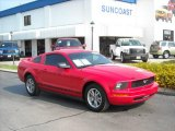 2005 Torch Red Ford Mustang V6 Deluxe Coupe #11262993