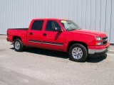 2006 Victory Red Chevrolet Silverado 1500 LS Crew Cab #1085823