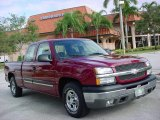 2004 Sport Red Metallic Chevrolet Silverado 1500 LS Extended Cab #1093514
