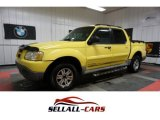 Zinc Yellow Ford Explorer Sport Trac in 2002