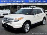 2013 White Platinum Tri-Coat Ford Explorer XLT 4WD #113033640