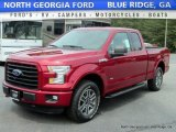2016 Ruby Red Ford F150 XLT SuperCab 4x4 #113033638