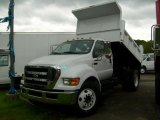 2008 Oxford White Ford F650 Super Duty XLT Regular Cab Chassis Dump Truck #11252138
