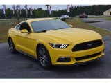2016 Triple Yellow Tricoat Ford Mustang EcoBoost Coupe #113061837