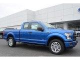 2016 Blue Flame Ford F150 XL SuperCab 4x4 #113061663