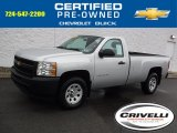 2012 Silver Ice Metallic Chevrolet Silverado 1500 Work Truck Regular Cab 4x4 #113061813