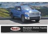 2016 Blazing Blue Pearl Toyota Tundra Limited CrewMax 4x4 #113197190