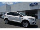 2017 White Platinum Ford Escape Titanium #113197376