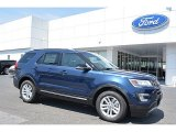 2016 Blue Jeans Metallic Ford Explorer XLT #113228100