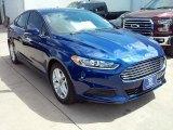 2016 Deep Impact Blue Metallic Ford Fusion SE #113260534