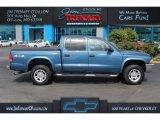 2004 Atlantic Blue Pearl Dodge Dakota SLT Quad Cab 4x4 #113260512