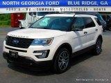 2016 White Platinum Metallic Tri-Coat Ford Explorer Sport 4WD #113330948
