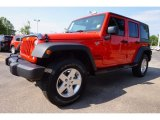 2016 Firecracker Red Jeep Wrangler Unlimited Sport 4x4 #113374367