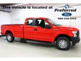 2016 Race Red Ford F150 XLT SuperCab 4x4 #113451975
