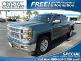 2014 Blue Granite Metallic Chevrolet Silverado 1500 LT Crew Cab #113452540