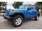 2016 Hydro Blue Pearl Jeep Wrangler Unlimited Sport 4x4 #113505739