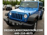 2016 Hydro Blue Pearl Jeep Wrangler Unlimited Sport 4x4 #113563690