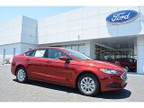 2017 Ruby Red Ford Fusion S #113687461