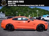 2016 Competition Orange Ford Mustang GT Premium Coupe #113687440