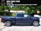 2016 Blue Jeans Ford F150 XLT SuperCrew 4x4 #113768561