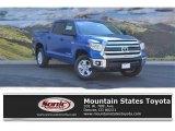 2016 Blazing Blue Pearl Toyota Tundra SR5 CrewMax 4x4 #113768385
