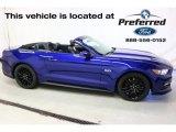 2016 Deep Impact Blue Metallic Ford Mustang GT Premium Convertible #113847173