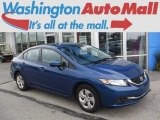 2015 Dyno Blue Pearl Honda Civic LX Sedan #113940442