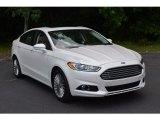 2015 White Platinum Metallic Ford Fusion Titanium #113940619