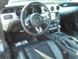 2017 Ford Mustang EcoBoost Premium Convertible Ebony Interior