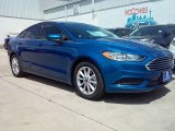 2017 Lightning Blue Ford Fusion SE #114109562