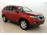 2011 Spicy Red Kia Sorento LX AWD #114191816