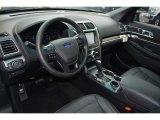 2017 Ford Explorer Limited Ebony Black Interior