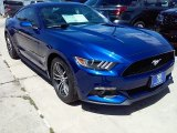 2016 Deep Impact Blue Metallic Ford Mustang EcoBoost Coupe #114243286
