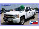 2008 Summit White Chevrolet Silverado 1500 LT Crew Cab 4x4 #11418488