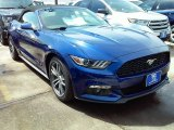 2016 Deep Impact Blue Metallic Ford Mustang EcoBoost Premium Convertible #114280048