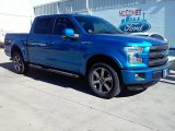 2016 Blue Flame Ford F150 Lariat SuperCrew 4x4 #114280042