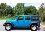 2016 Hydro Blue Pearl Jeep Wrangler Unlimited Sport 4x4 #114279974
