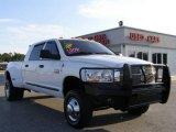 2008 Bright White Dodge Ram 3500 SLT Mega Cab 4x4 Dually #11412542