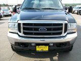 2004 Dark Green Satin Metallic Ford F250 Super Duty Lariat Crew Cab 4x4 #11407816