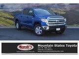 2016 Blazing Blue Pearl Toyota Tundra SR5 CrewMax 4x4 #114326394