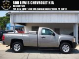 2013 Graystone Metallic Chevrolet Silverado 1500 Work Truck Regular Cab 4x4 #114326568