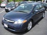 2007 Royal Blue Pearl Honda Civic EX Sedan #11414957