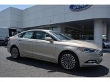 2017 White Gold Ford Fusion SE #114382102