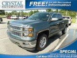 2014 Blue Granite Metallic Chevrolet Silverado 1500 LT Crew Cab #114382304